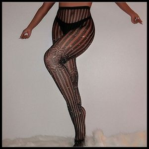 Miss Babydoll Intimates & Sleepwear - ❤️NEW Sexy Bling Stripe Fishnet Stockings #D36